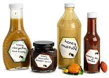 Glass Honey Sauce Bottles & Jars