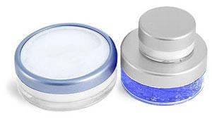 PET and Styrene Plastic Jars w/ Caps