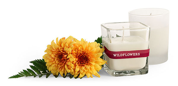 Square and Frosted Glass Candle Jars