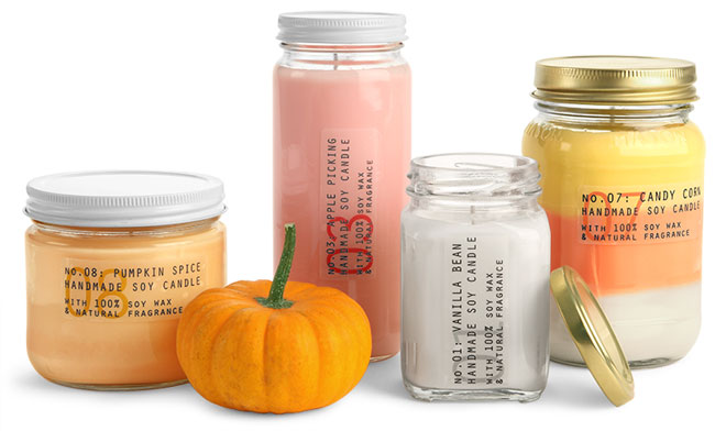 Clear Gl Candle Jars