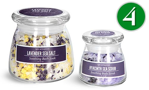 Glass Bath Salt Jars