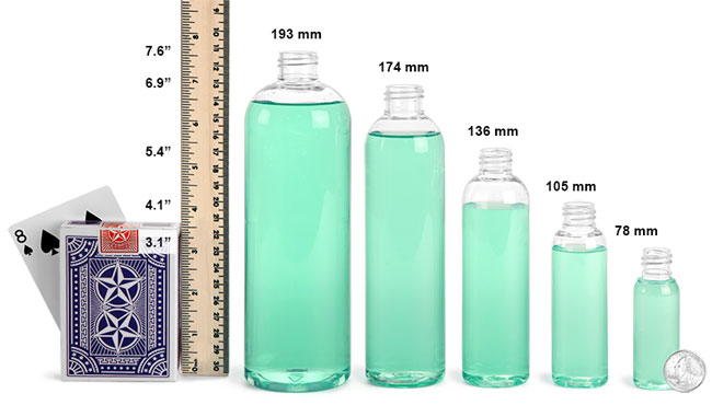 Clear PET Plastic Bottles