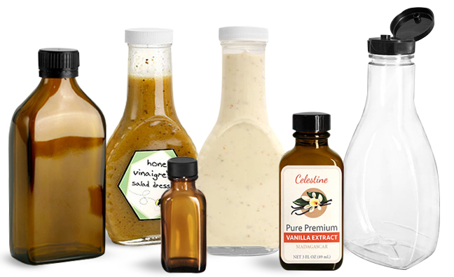 Oblong Bottles for Food Products