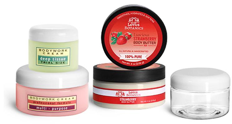 Clear Heavy Wall Jars for Bath Salts & Body Scrubs