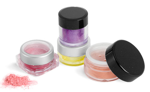 Clear Styrene Plastic Eyeshadow Jars