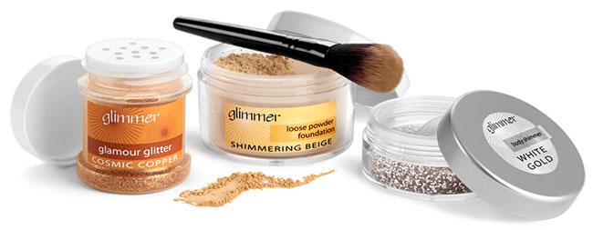 Body Glitter & Powder Foundation Jars