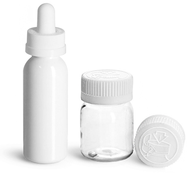 Child Resistant Caps and PET Bottles for Supplements