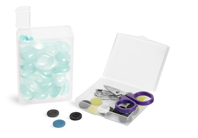 Natural Polypro Hinged Containers To Organize Your Hobby and Craft Supplies