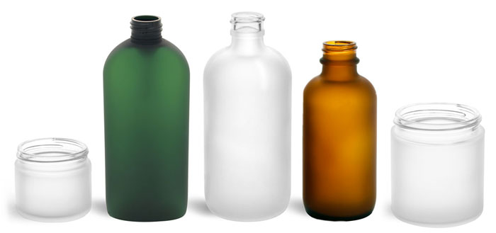Custom Frosted Bottles and Jars