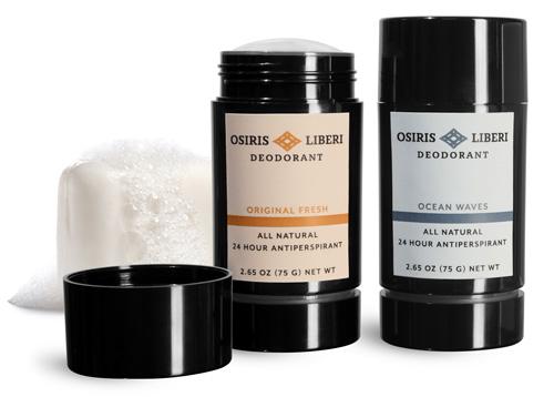 Black Round Deodorant Tubes