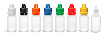 LDPE BOTTLES W/ COLORED DROPPERS