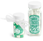 Clear PET Square Bottle Wedding Favor Ideas