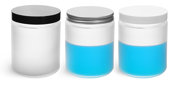 8 oz Frosted Glass Jars