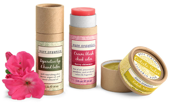 Paperboard Jars and Push-Up Tubes