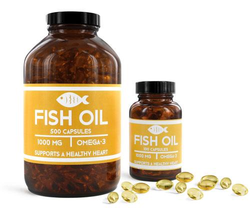 OTC Pharmaceutical Bottles, Fish Oil Bottles