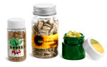 PET Plastic Seed Bottles, Jars & Vials