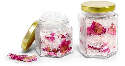 Glass Bath Salt Containers