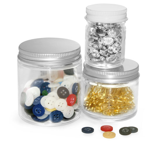 Clear Glass Jars To Organize Your Hobby and Craft Supplies