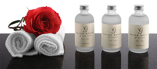 Frosted Glass Amenity Bottles