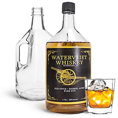 Glass Liquor Bottles with Handles