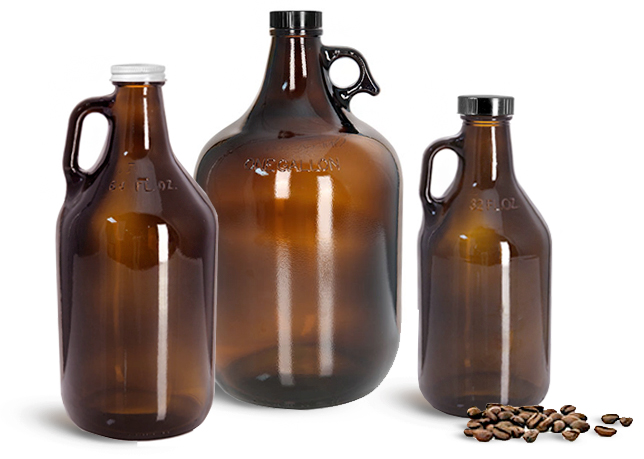 Glass Coffee Bottles with Handles