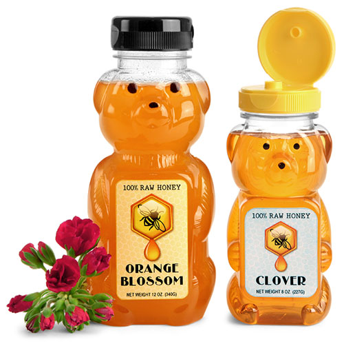 Plastic Honey Bear Bottles