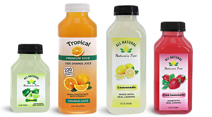 Beverage Bottles for Juice Drinks