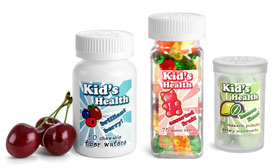 Plastic Child Resistant Supplement Containers