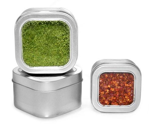 Square Kitchen Storage Spice Tins