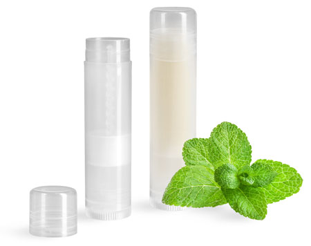 Natural Plastic Lip Balm Tubes