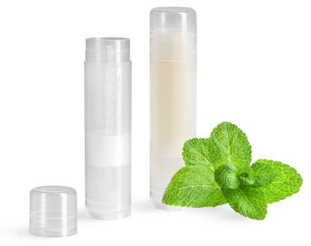 Natural Plastic Lip Balm Tubes
