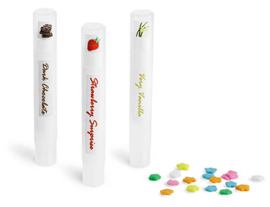 Natural Plastic Slim Line Lip Balm Tubes