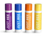 White Lip Balm Tubes w/ Assorted Color Caps