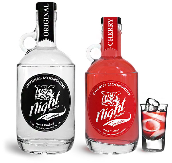 Clear Glass Moonshine Bottles