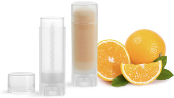 Natural Plastic Oval Lip Balm Tubes