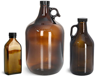 Amber Glass Specialty Shape Bottles