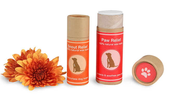 Paperboard Paw Balm Tubes
