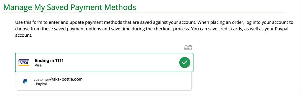 Payment Methods, New Website Features