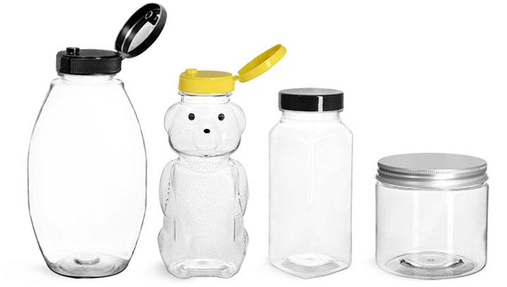 Plastic Honey Jars and Bottles