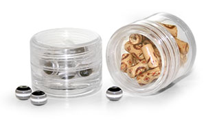 Clear Styrene Jars To Organize Your Hobby and Craft Supplies