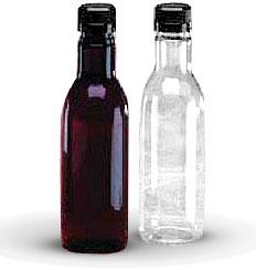 Plastic Bottles, 11 oz Round PET Sauce Bottles