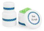 Plastic Bath Salt Jars w/ White Lined Caps