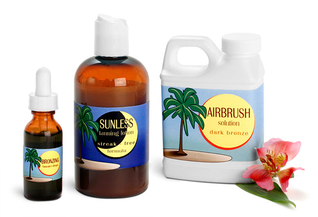 Sunless Tanning Lotion Bottles & Bronzing Containers