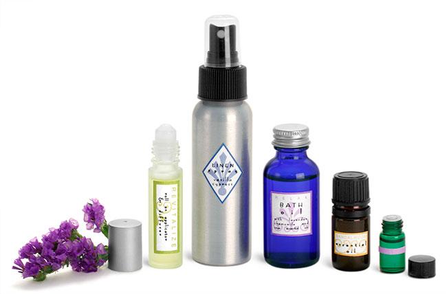 Aromatherapy Massage Bottles & Vials