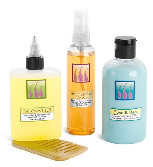 Plastic Hair Treatment Bottles