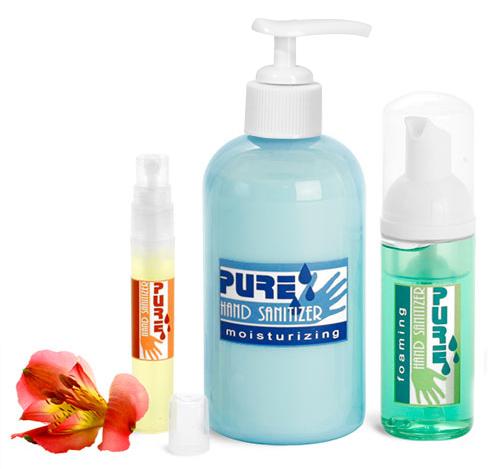 Plastic Hand Sanitizer Bottles & Vials