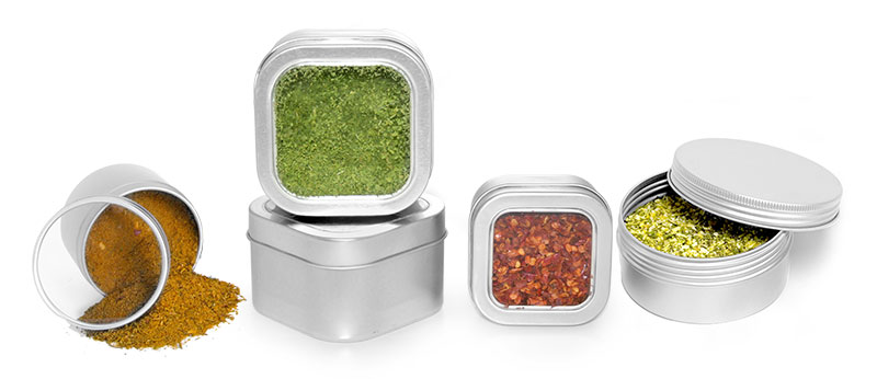 Metal Spice Tins