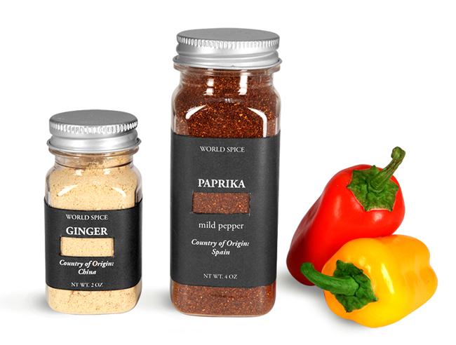 Plastic Spice Bottles With Aluminum Caps