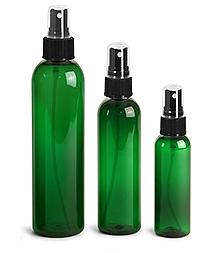Green PET Bottles w/ Black Sprayers