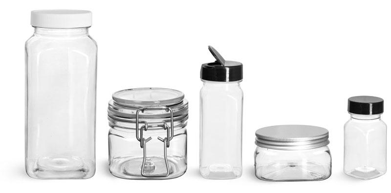 Square PET Bottles & Jars